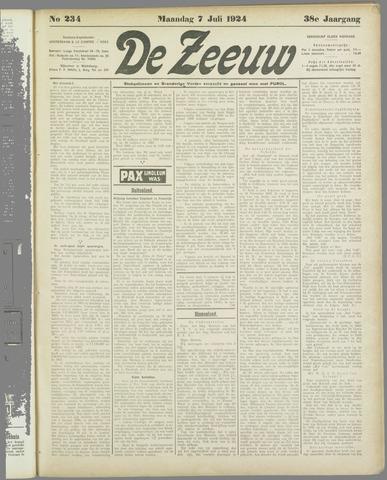 De Zeeuw. Christelijk-historisch nieuwsblad voor Zeeland 1924-07-07
