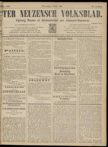 Ter Neuzensch Volksblad. Vrijzinnig nieuws- en advertentieblad voor Zeeuwsch- Vlaanderen / Zeeuwsch Nieuwsblad. Nieuws- en advertentieblad voor Zeeland 1911-03-08