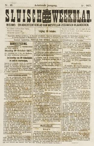 Sluisch Weekblad. Nieuws- en advertentieblad voor Westelijk Zeeuwsch-Vlaanderen 1877-10-19