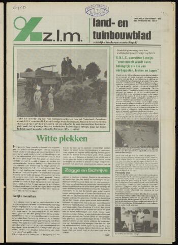 Zeeuwsch landbouwblad ... ZLM land- en tuinbouwblad 1981-09-25
