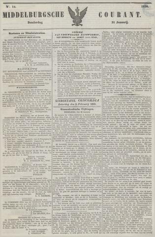 Middelburgsche Courant 1850-01-31