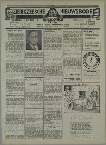 Zierikzeesche Nieuwsbode 1937-10-14