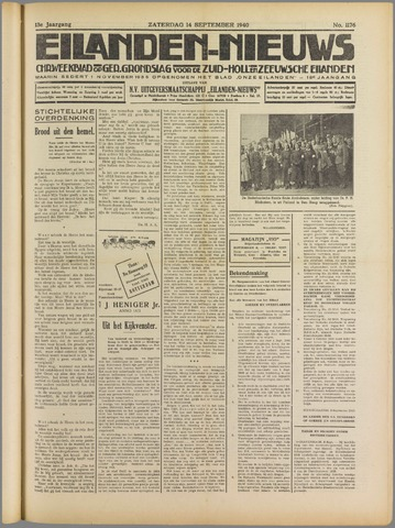 Eilanden-nieuws. Christelijk streekblad op gereformeerde grondslag 1940-09-14