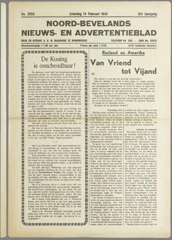 Noord-Bevelands Nieuws- en advertentieblad 1948-02-14