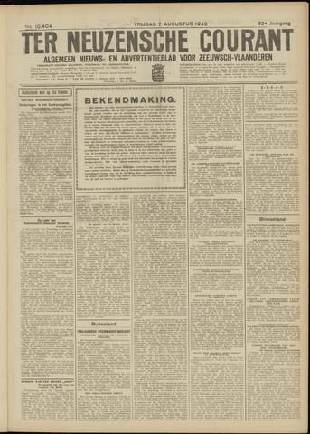 Ter Neuzensche Courant. Algemeen Nieuws- en Advertentieblad voor Zeeuwsch-Vlaanderen / Neuzensche Courant ... (idem) / (Algemeen) nieuws en advertentieblad voor Zeeuwsch-Vlaanderen 1942-08-07