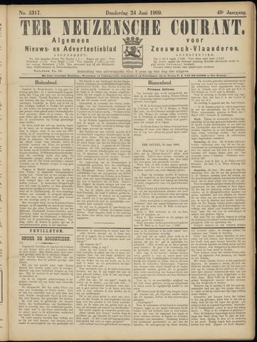 Ter Neuzensche Courant. Algemeen Nieuws- en Advertentieblad voor Zeeuwsch-Vlaanderen / Neuzensche Courant ... (idem) / (Algemeen) nieuws en advertentieblad voor Zeeuwsch-Vlaanderen 1909-06-24