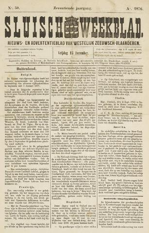 Sluisch Weekblad. Nieuws- en advertentieblad voor Westelijk Zeeuwsch-Vlaanderen 1876-12-15