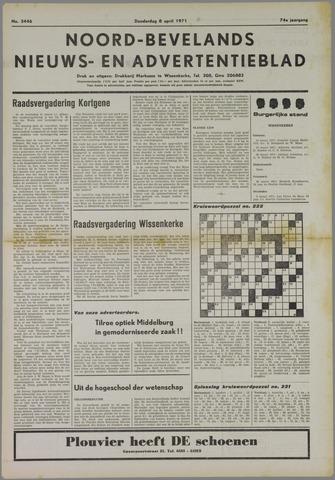 Noord-Bevelands Nieuws- en advertentieblad 1971-04-08
