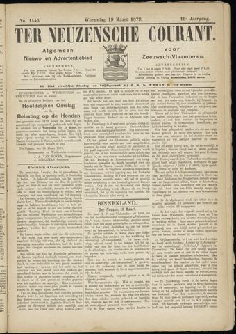 Ter Neuzensche Courant. Algemeen Nieuws- en Advertentieblad voor Zeeuwsch-Vlaanderen / Neuzensche Courant ... (idem) / (Algemeen) nieuws en advertentieblad voor Zeeuwsch-Vlaanderen 1879-03-19