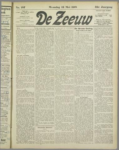 De Zeeuw. Christelijk-historisch nieuwsblad voor Zeeland 1918-05-13
