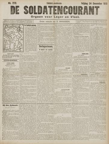 De Soldatencourant. Orgaan voor Leger en Vloot 1915-12-24