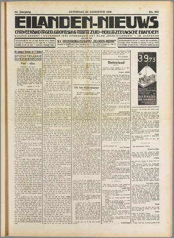 Eilanden-nieuws. Christelijk streekblad op gereformeerde grondslag 1938-08-20