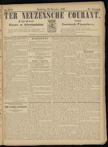 Ter Neuzensche Courant. Algemeen Nieuws- en Advertentieblad voor Zeeuwsch-Vlaanderen / Neuzensche Courant ... (idem) / (Algemeen) nieuws en advertentieblad voor Zeeuwsch-Vlaanderen 1897-12-23