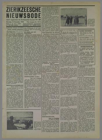 Zierikzeesche Nieuwsbode 1942-12-12