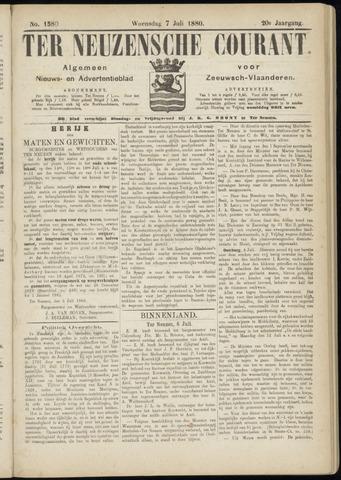 Ter Neuzensche Courant. Algemeen Nieuws- en Advertentieblad voor Zeeuwsch-Vlaanderen / Neuzensche Courant ... (idem) / (Algemeen) nieuws en advertentieblad voor Zeeuwsch-Vlaanderen 1880-07-07