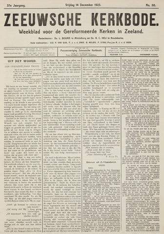 Zeeuwsche kerkbode, weekblad gewijd aan de belangen der gereformeerde kerken/ Zeeuwsch kerkblad 1923-12-14