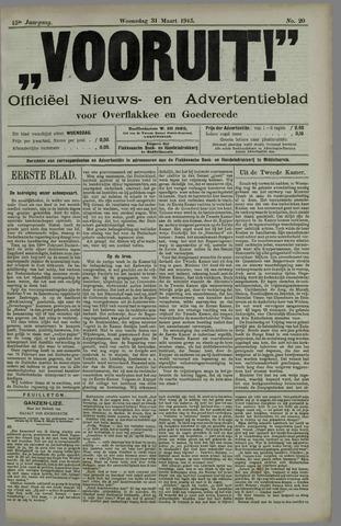 """""""Vooruit!""""Officieel Nieuws- en Advertentieblad voor Overflakkee en Goedereede 1915-03-31"""