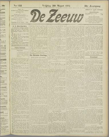 De Zeeuw. Christelijk-historisch nieuwsblad voor Zeeland 1917-03-30