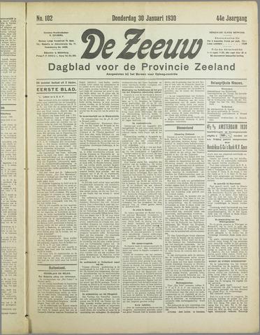 De Zeeuw. Christelijk-historisch nieuwsblad voor Zeeland 1930-01-30
