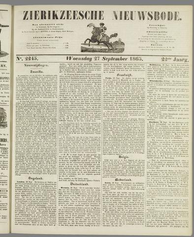 Zierikzeesche Nieuwsbode 1865-09-27