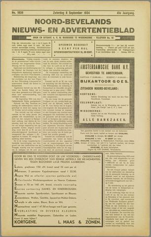 Noord-Bevelands Nieuws- en advertentieblad 1934-09-08