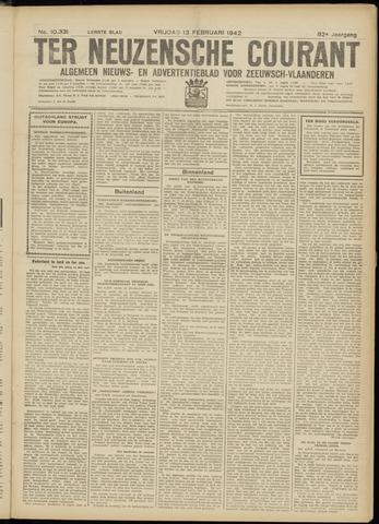 Ter Neuzensche Courant. Algemeen Nieuws- en Advertentieblad voor Zeeuwsch-Vlaanderen / Neuzensche Courant ... (idem) / (Algemeen) nieuws en advertentieblad voor Zeeuwsch-Vlaanderen 1942-02-13