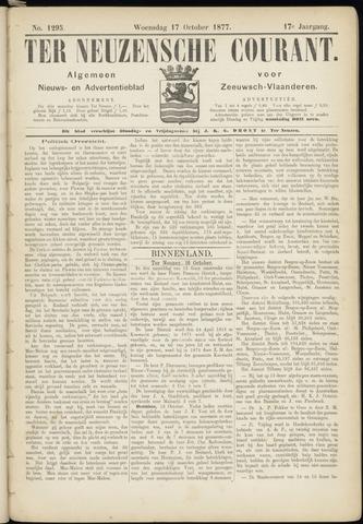 Ter Neuzensche Courant. Algemeen Nieuws- en Advertentieblad voor Zeeuwsch-Vlaanderen / Neuzensche Courant ... (idem) / (Algemeen) nieuws en advertentieblad voor Zeeuwsch-Vlaanderen 1877-10-17