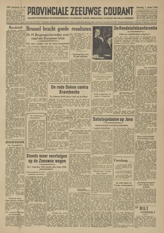 Provinciale Zeeuwse Courant 1949-03-01