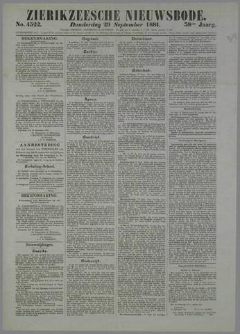 Zierikzeesche Nieuwsbode 1881-09-29