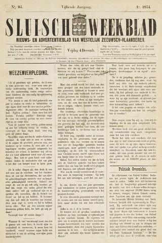 Sluisch Weekblad. Nieuws- en advertentieblad voor Westelijk Zeeuwsch-Vlaanderen 1874-12-04