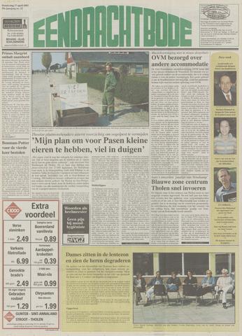 Eendrachtbode (1945-heden)/Mededeelingenblad voor het eiland Tholen (1944/45) 2003-04-17