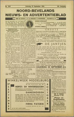 Noord-Bevelands Nieuws- en advertentieblad 1934-09-22