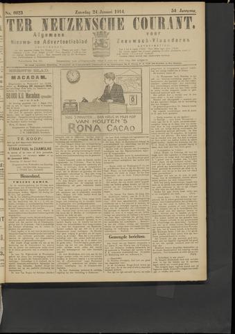 Ter Neuzensche Courant. Algemeen Nieuws- en Advertentieblad voor Zeeuwsch-Vlaanderen / Neuzensche Courant ... (idem) / (Algemeen) nieuws en advertentieblad voor Zeeuwsch-Vlaanderen 1914-01-24