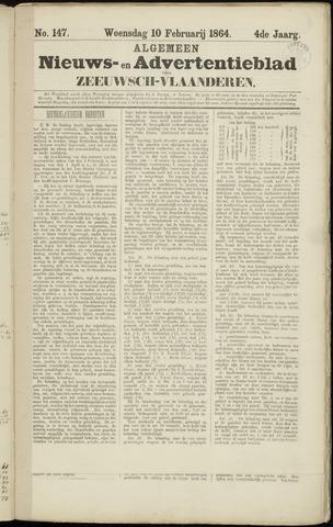 Ter Neuzensche Courant. Algemeen Nieuws- en Advertentieblad voor Zeeuwsch-Vlaanderen / Neuzensche Courant ... (idem) / (Algemeen) nieuws en advertentieblad voor Zeeuwsch-Vlaanderen 1864-02-10