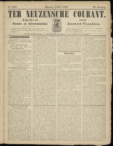 Ter Neuzensche Courant. Algemeen Nieuws- en Advertentieblad voor Zeeuwsch-Vlaanderen / Neuzensche Courant ... (idem) / (Algemeen) nieuws en advertentieblad voor Zeeuwsch-Vlaanderen 1883-03-03