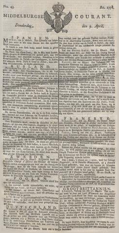Middelburgsche Courant 1778-04-09