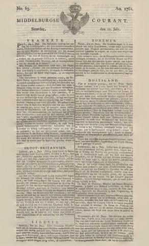 Middelburgsche Courant 1761-07-11