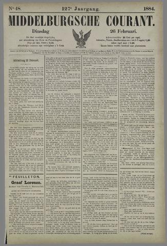Middelburgsche Courant 1884-02-26