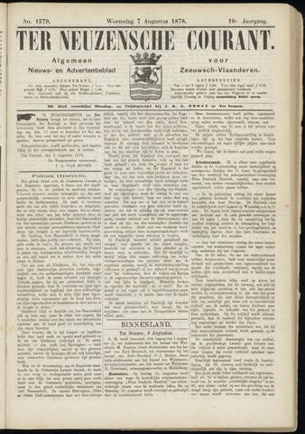 Ter Neuzensche Courant. Algemeen Nieuws- en Advertentieblad voor Zeeuwsch-Vlaanderen / Neuzensche Courant ... (idem) / (Algemeen) nieuws en advertentieblad voor Zeeuwsch-Vlaanderen 1878-08-07