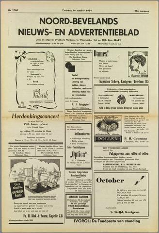 Noord-Bevelands Nieuws- en advertentieblad 1954-10-16