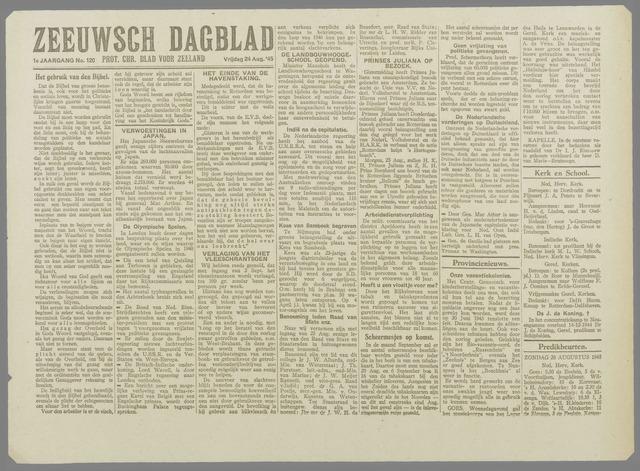 Zeeuwsch Dagblad 1945-08-24