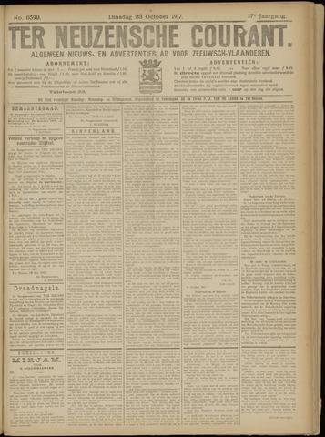 Ter Neuzensche Courant. Algemeen Nieuws- en Advertentieblad voor Zeeuwsch-Vlaanderen / Neuzensche Courant ... (idem) / (Algemeen) nieuws en advertentieblad voor Zeeuwsch-Vlaanderen 1917-10-23