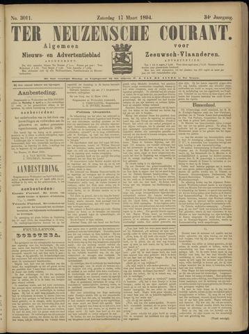 Ter Neuzensche Courant. Algemeen Nieuws- en Advertentieblad voor Zeeuwsch-Vlaanderen / Neuzensche Courant ... (idem) / (Algemeen) nieuws en advertentieblad voor Zeeuwsch-Vlaanderen 1894-03-17