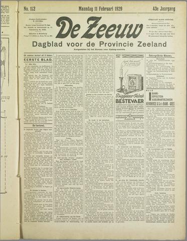 De Zeeuw. Christelijk-historisch nieuwsblad voor Zeeland 1929-02-11