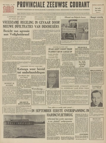 Provinciale Zeeuwse Courant 1962-08-11