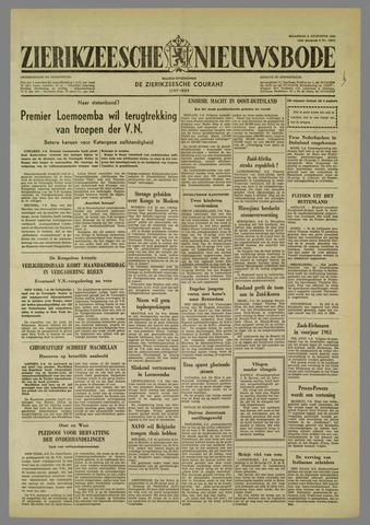 Zierikzeesche Nieuwsbode 1960-08-08
