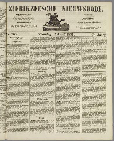Zierikzeesche Nieuwsbode 1851-06-02