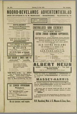 Noord-Bevelands Nieuws- en advertentieblad 1929-05-25