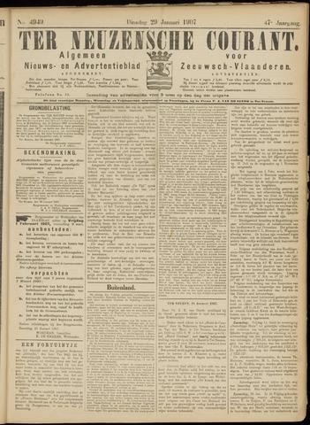Ter Neuzensche Courant. Algemeen Nieuws- en Advertentieblad voor Zeeuwsch-Vlaanderen / Neuzensche Courant ... (idem) / (Algemeen) nieuws en advertentieblad voor Zeeuwsch-Vlaanderen 1907-01-29