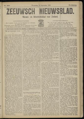 Ter Neuzensch Volksblad. Vrijzinnig nieuws- en advertentieblad voor Zeeuwsch- Vlaanderen / Zeeuwsch Nieuwsblad. Nieuws- en advertentieblad voor Zeeland 1918-09-18